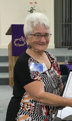 Glenys and her late husband Bob and family have been part of St Augustine and its previous congregations for many years since they moved from Collie. Originally a nurse, Glenys is currently Chair of the Congregation and serves in many areas of church life.